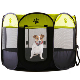 Wholesale Dog Puppy Playpen - 2017 New Arrival Portable Folding Pet Bed Tent Playpen Dog Cat Fence Puppy Kennel Easy Operation Exercise Play Pet House Outdoor