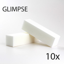 Wholesale Pedicure Files - Wholesale- GLIMPSE 10PCS White Nail file Buffer Block good quality Buffing Sanding Files Pedicure Manicure Care for SALON