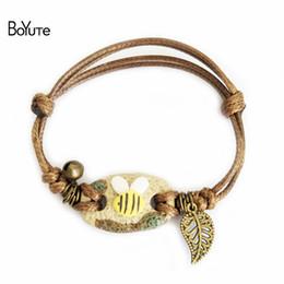 Wholesale Circle Protection - BoYuTe Vintage Ethnic Style Women Jewelry Bracelet Handmade Porcelain Ceramic Bracelet Women's Accessories Bubble Bag For Protection