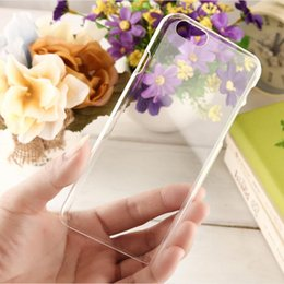 Wholesale Crystals For Cell Phone Case - Cell Phone Back Cover Clear Crystal Hard PC Transparent Skin Case protective shell For iPone 7 6 Plus 5 Samsung S7 Edge Note