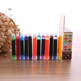 Wholesale Pc Ink - 8 10 12 Pcs Lot Disposable Color Fountain Pen Ink Cartridge Refills Universal design Replaceable Fountain pen ink sac