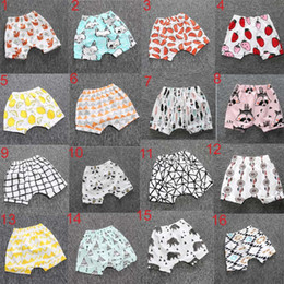 Wholesale embroidered leggings - Hot Selling Ins New Baby toddler boys girls ins pants Leggings Bee Panda Zoo embroidered Sabrina pant Cropped Trousers boys Harem Shorts