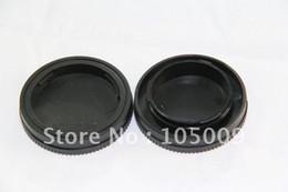 2019 nex e mount Оптовая продажа-задняя крышка объектива / крышка + крышка корпуса камеры для E mount NEX-3 NEX5 скидка nex e mount