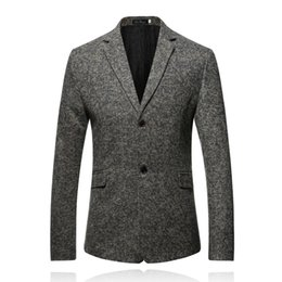 Wholesale Contrasts Dress Designs - 2017 Autumn Style Luxury Business Casual Suit Men Blazers Set Professional Formal Wedding Dress Beautiful Design Plus Size M-3XL