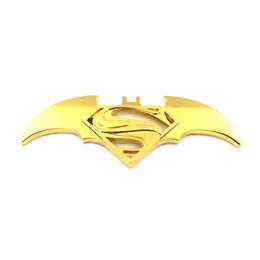декаль Скидка новый 3D прохладный металл летучая мышь авто логотип стайлинга автомобилей наклейки Бэтмен Супермен значок эмблема наклейка мотоцикл автомобильные аксессуары