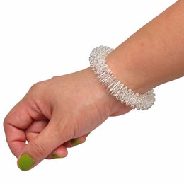 Wholesale Wrist Massage - Acupuncture Bracelet Wrist Massager Supplies Relaxation Stainless Steel Wrist Hand Massage Ring Acupressure body health massaging