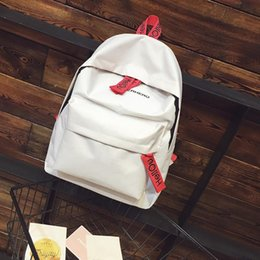 Wholesale Boys Choice - 2017 New Unisex Girls Boys Canvas Backpack School Bag Fashion Women Men Travel Backpack Satchel 4 Colors for Choice