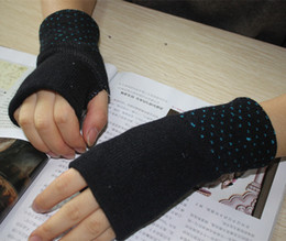 Wholesale Wholesale Fashion Socks Gloves - Winter must - have double - layer thickening warm knitted gloves half - finger gloves students gloves hand socks