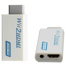 Wholesale Hd Audio Adapter - Wholesale-White For Wii to HDMI Wii2HDMI Adapter Converter Full HD 1080P Output 3.5mm Audio Video Output Hot Sale