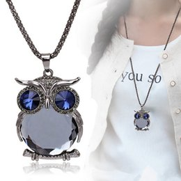 Wholesale Owl Necklace Korea - Wholesale-2015 New owl long section of the decorative sweater chain South Korea jewelry accessories pendant fashion new necklace for woman
