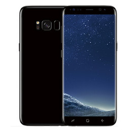 Wholesale Goophone Inch Screen - Goophone S8 edge 5.8 inch Android 6.0 Cell Phone MTK6580 Quad Core 1GB 8GB show 64GB fake 4G lte clone phone