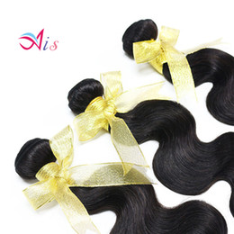 Wholesale Lowest Price Hair Extensions - Lowest Price Unprocessed 7A Indian Peruvian Malaysia Brazilian Hair 3Bundles lot Body Wave Hair Weaves Full Head Hair Extensions