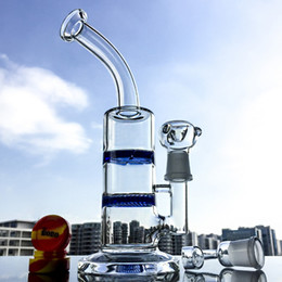 Recyclage en nid d'abeille en Ligne-2017 Hot Glass Water Bong Avec Honeycomb Percolator Cyclone Recycler Perc Deux Fonction Glass Bong Can pour Oil Rigs Tobacco 18.8mm WP101