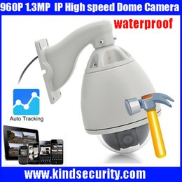 Wholesale Dome Tracking - Freeship 2016 20X Optical Zoom High Speed Dome Full HD960P Auto Tracking high speed PTZ IP dome Camera