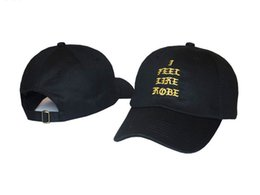 Wholesale Kobe Hat - Male Letter I FEEL LIKE KOBE pablo kanye west Baseball Cap Hip Hop Brand Snapback drake Hat Women Men Fishing Cap Gorra Bboy