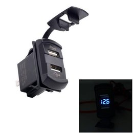 Wholesale Marine Led Rocker Switch - Wholesale- Dual Usb Car Charger Display quick Adapter Led 4.2A Rocker Switch Style Car-charger Accessories Car Marine Boat Voltmeter
