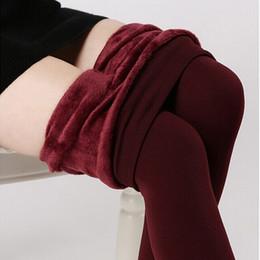 Wholesale Super Thick Girls - Wholesale- Hot Plus Cashmere Leggings Girls Casual Warm Winter Faux Velvet Knitted Thick Slim Woman Pants Super Elastic Wholesale