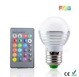 Wholesale 5w Ir Led Remote Control - E27 16 Colors Changing 5W 85-265V magic RGB LED Lamp Stage DJ Light Dimmable RGB Bulb + 24key IR Remote Control lighting