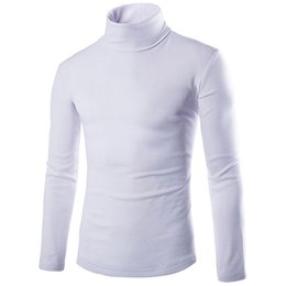 Wholesale Long Sleeve Piles Collar - Autumn winter new casual Piles turtleneck full sleeve soft warm sweaters bottoming Slim Features men's clothes