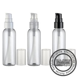 Wholesale Travel Size Spray Bottles - 30pcs 60ml clear empty cosmetic container with cream pump,60g skin care cream treatment bottles travel size makeup setting spray