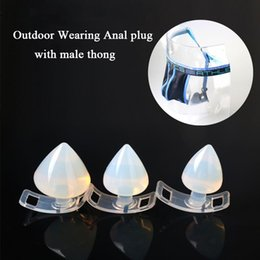 Wholesale Strap Sex Toys Men - Outdoor Wearing Silicone Anal Plug With Underwear Thong, Removable Butt Plug Strap On Chastity Pants Erotic Sex Toys for Men Gay q0511