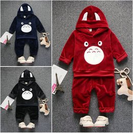 Wholesale Toddler Girls Turtlenecks - 2pc Baby Toddler Boys Girls Clothes Outfits Hooded Coat+Pants Kids Casual Sets