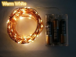 Wholesale Wholesale Wire Garland - 5M 50LED Low Price LED battery waterproof led copper wire string lights christmas festival wedding party decoration garland strip