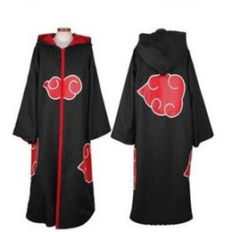 Wholesale Free Naruto Games - Hot Sale Anime Naruto Akatsuki  Uchiha Itachi Cosplay Halloween Christmas Party Costume Cloak Cape free shipping