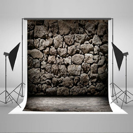 Wholesale Free Print Backgrounds - Kate photography backdrop Backdrop Rock Wall Background Grey Black 6.5x10ft Photo Studio Props Backdrop for Photographers Wrinkle Free 01483