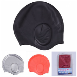 Wholesale Silicone Hair Clips - Durable Stylish Silicone Swimming Hat Swim Cap Hair Caps For Swimming With Swim Nose Clip And Ear Plugs