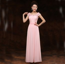 Wholesale 12 Tank Tops Cheap - cheap long lace bridesmaid tank tops woman's day formal special occasion dresses floor length a-line dress light pink lace H2700