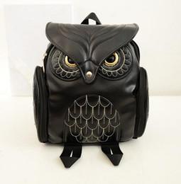 Wholesale Designer Owl Shoulder Bag - Hot sale Designer Fashion Women 3D Printing OWL Backpack PU Leather Owl Animal Student Shoulder School Bags For Teenagers Girls Bag