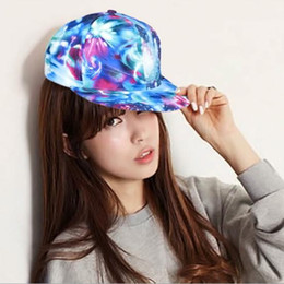 Wholesale South Korean Men Street Fashion - Korean version of the new South Korean influx of men and women hip-hop graffiti printed flat star along the baseball cap