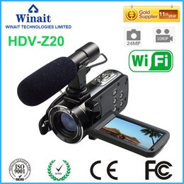 "Wholesale Control Lens - Wholesale- At a glance !Professional Digital Vedio Camera HDV-Z20 WIFI Remote Control 3.0""Touch Screen 64GB Memory Camera"