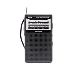 Wholesale-Free Shipping TECSUN R-218 AM/FM/TV Sound Pocket Radio Receiver with Built-In Speaker от