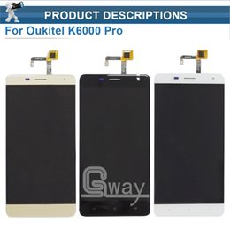 Wholesale Mobile Lcd Touch Screen - Wholesale- Oukitel K6000 Pro LCD Display and Touch Screen Original Assembly+Tools For Oukitel K6000 Pro Mobile Accessory