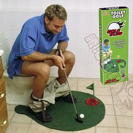 Wholesale Golf Set Toys - Potty Putter Toilet Golf Game Mini Golf Set Toilet Golf Putting Green Novelty Game Hig Quality For Men and Women Practical Jokes