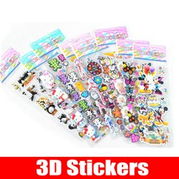 Wholesale Early Childhood - Children's cartoon animation stickers early childhood education 3D three-dimensional stickers kindergarten bubble stickers