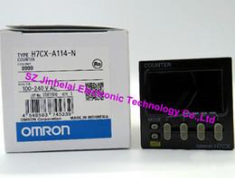 Contador omron on-line-Contador 100% novo e original da exposição de H7CX-A114-N OMRON Digital, CONTADOR 100-240VAC