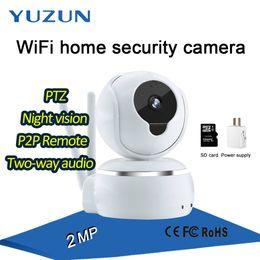 Wholesale Ptz Wireless Camera Monitor - 2mp p2p indoor smart home WiFi home security camera mini ptz baby elder monitor watchdog alarm 2 way audio wireless Surveillance camera