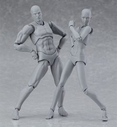 Wholesale Drawing Toys - figma archetype next he she gray color ver. PVC Action figure 135mm anime toys body chan DIY Drawing sketch