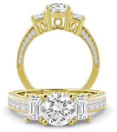 Wholesale Natural Diamond Certified - 2.70 tcw Round Cut GIA Certified Natural Diamond Engagement Ring 18k Yellow Gold