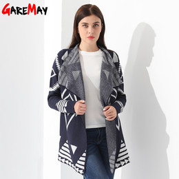 Wholesale Wool Sweater Coats For Women - Knitted Cardigan Female Sweater Autumn Women Jacket Knitting Coat Casual Feminino Casaco Long Cardigan For Women Warm GAREMAY