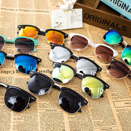Wholesale Vintage Frog Woman - Reflective Frog Mirror Retro Vintage Men Women Outdoor Frog Sunglasses Classic Eyeglasses a variety of colors 3012002