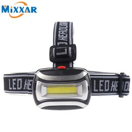 Wholesale High Quality Lamps - High Quality LED Headlight Mini Plastic 600Lm Headlamp Head Light Lamp Flashlight 3aaa Torch For Camping Hiking Fishing