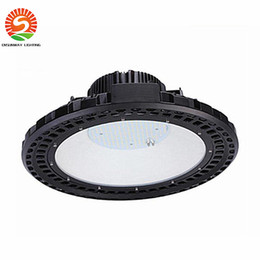 Wholesale Exhibition Lighting - CREE Chip+Meanwell driver 120W 150W UFO LED High bay light 120lm W super bright factory warehouse exhibition lighting Lamp 85-265V
