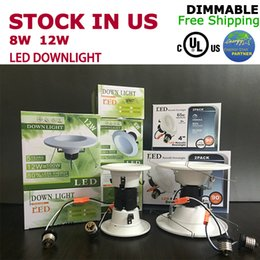 Wholesale Es Led - cUL UL ES Led down light 8w 12w dimmable 4'' 5'' 6'' 5 years warranty good price US stock