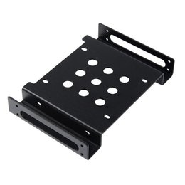 "ssd mounts Coupons - Wholesale- Aluminum 2.5 "" & 3.5 "" SATA HDD SSD to 5.25 bracket adapter 2.5 to 5.25 or 3.5 to 5.25 hard drive bay converter mounting kit"