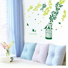 Wholesale Abstract Design Wallpaper - Leafy Shade Wall Sticker Home Decoration Kid Living Room Bedroom Mural Art Vinyl Decal Decorative Adhesive Wallpaper Stickers Decor
