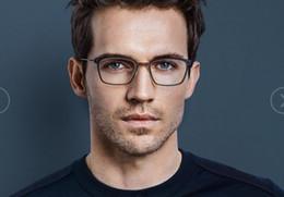 Wholesale titanium frame men eyeglasses - Lindberg 6536 designer glasses frame clear lenses without screw brand eyeglasses frame plank and titanium eyewear frames